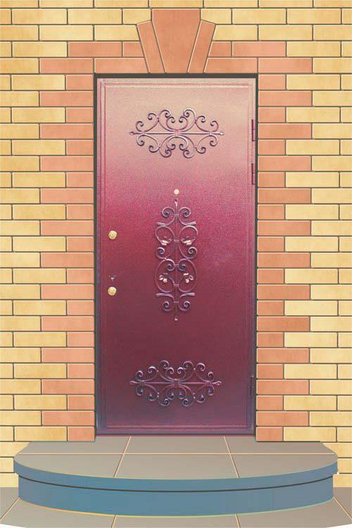 Входная дверь с элементами ковки