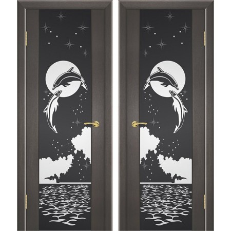 Межкомнатные двери Геона Триплекс Дельфин