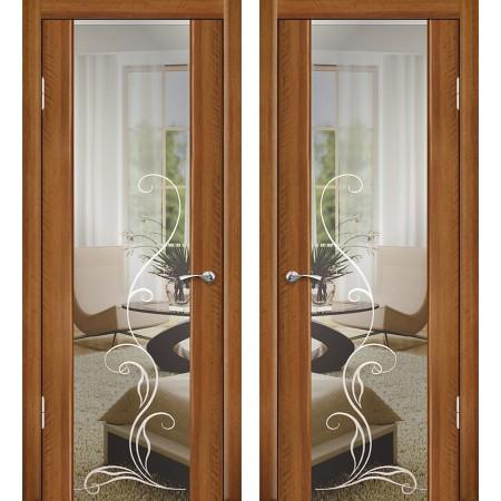 Межкомнатные двери Геона Модерн Люкс-1 с зеркалом